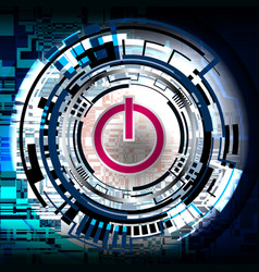 background cyber power vector image