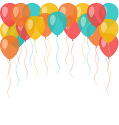 background with flying celebration balloons vector image