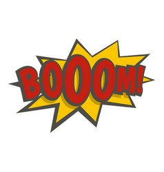 boom explosion icon isolated vector image vector image