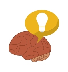 brain thinking idea bubble vector image