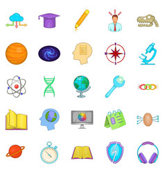 brainstorm icons set cartoon style vector image