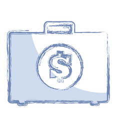Briefcase with money icon vector