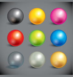 Collection of colorful balls vector image vector image