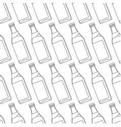 Contour bottles pattern vector
