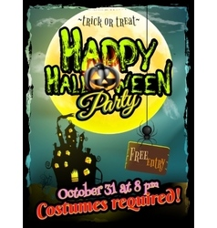 Grunge Halloween background EPS 10 vector image vector image