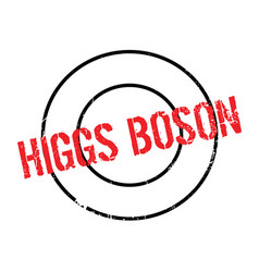 Higgs boson rubber stamp vector