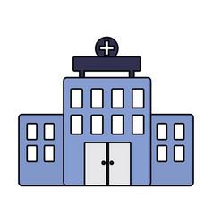 hospital building architecture facade cross vector image