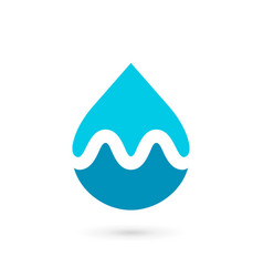 Letter m water drop logo icon design template vector