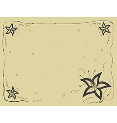 lily frame vector image