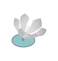 Lotus flower icon isometric 3d style vector image