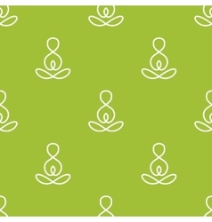 minimalistic yoga sign seamless pattern vector image vector image