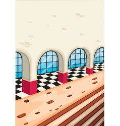 outside view of a building vector image