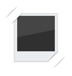 Polaroid photo frame with mounts vector