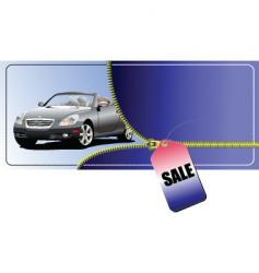 Sale car vector