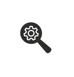 setting icon vector image vector image