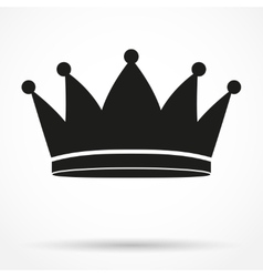 Silhouette simple symbol of classic royal king vector