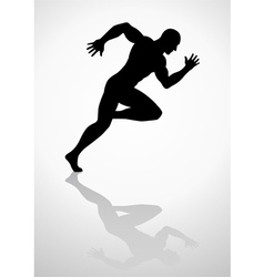 Silhouette Sprinter vector image