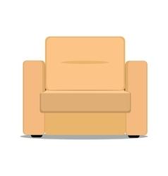 Soft armchair vector