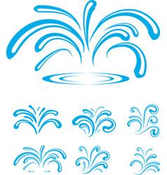 Splash of Sparkling Blue Water Drops vector image