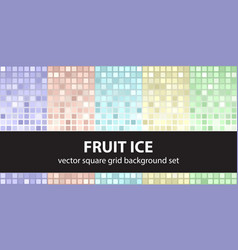 Square pattern set fruit ice seamless tile vector