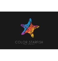 Starfish logo color starfisg sea logo ocean vector