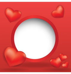 Web design bubble with hearts vector