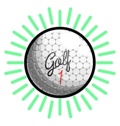 Color vintage golf emblems vector