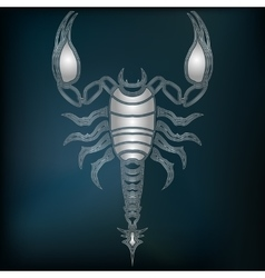 Silver scorpion zodiac scorpio sign vector
