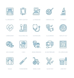 thin line icon of medical equipment vector image