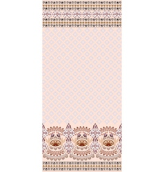 Vintage pink card finely patterned and wide border vector