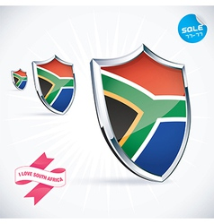I Love South Africa Flag vector image