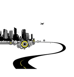Road to city art vector image