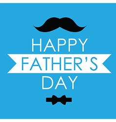 Greeting card design for fathers day vector