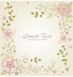 Greeting card for wedding or valentines day vector