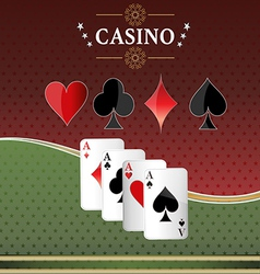 Poker casino cards background gambling the symbol vector