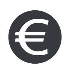 Monochrome round euro icon vector
