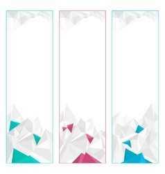 Set of polygonal geometric banners vector