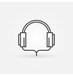 Headphone linear icon vector