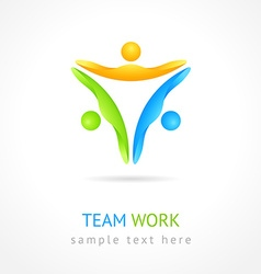 Team work design template creative social network vector