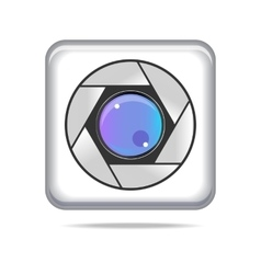 Color icon mobile camera for phone vector image