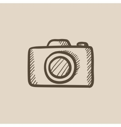 Camera sketch icon vector