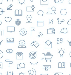 Modern gadgets pictograms seamless background vector image