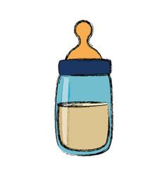 Baby feeding bottle vector