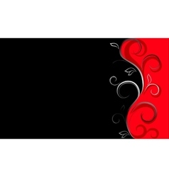 Background of red and black vector