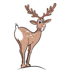 Cartoon image of reindeer vector