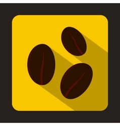 Coffee beans icon in flat style vector image vector image
