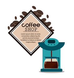 Coffee shop machine maker vector