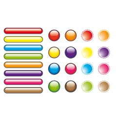 Color buttons vector image vector image