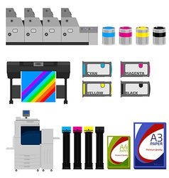Color print vector image