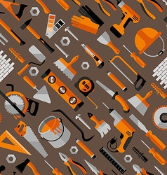 Color seamless pattern of building vector